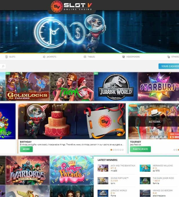 SlotV Casino Free Spins