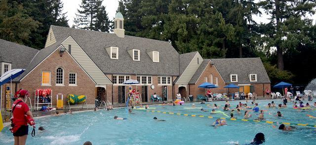 The historic pool at sellwood park