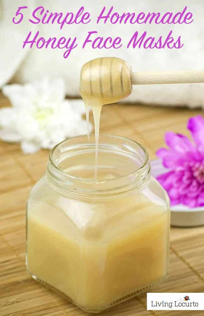 5 Simple DIY Honey Face Masks. Look younger and get rid of blemishes with these easy homemade skin care recipes at LivingLocurto.com