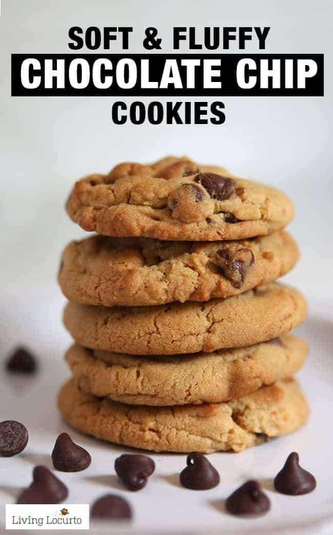 A recipe for the softest chocolate chip cookies! Soft fluffy cookies that come out perfect every time.