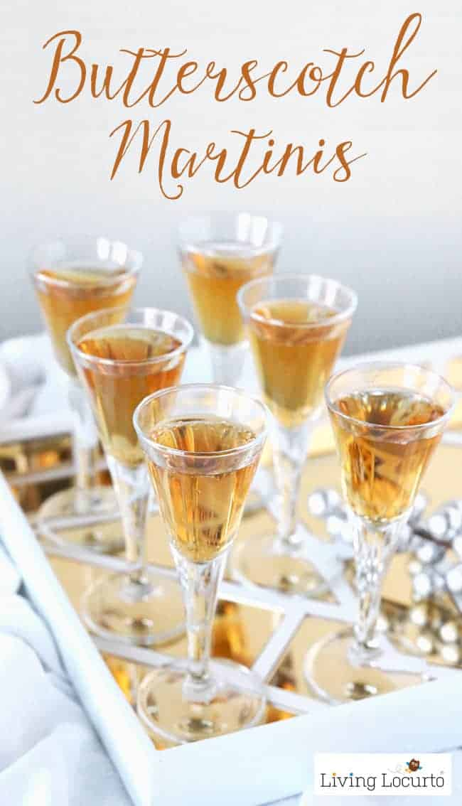 Easy Butterscotch Martini recipe that tastes a lot like Harry Potter Butterbeer! A delicious cocktail idea for your next party.