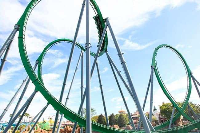 The Incredible Hulk Roller Coaster. 10 Things you MUST do at Universal Orlando! Learn about rides and attractions you can't miss! What's new and coming soon at the Wizarding World of Harry Potter and more with family vacation and travel tips. LivingLocurto.com
