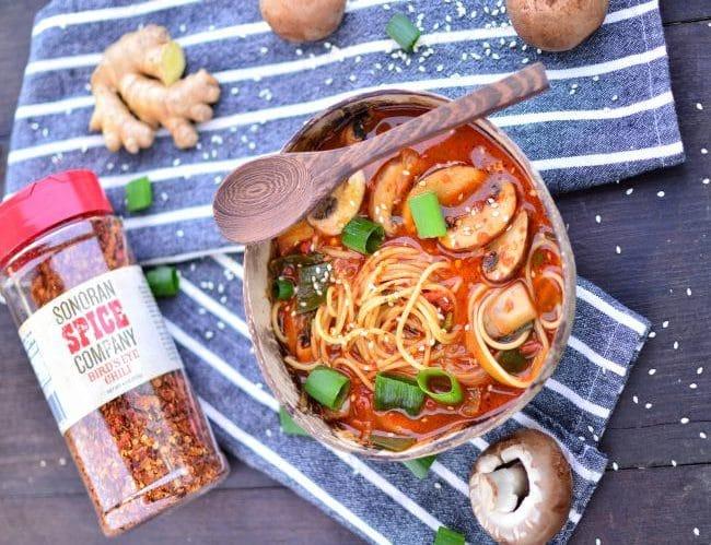 Vegan Ramen Noodles   Sonoran Spice Bird's Eye Chili Flakes