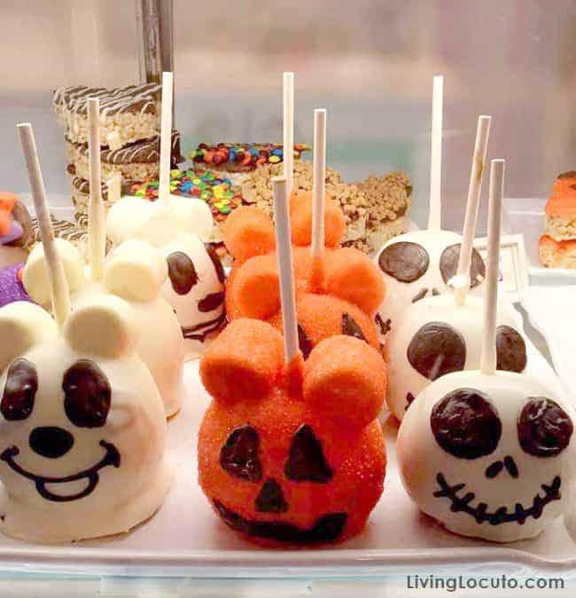 Disney World Magic Kingdom Halloween Caramel Apples - Mickey Mouse and Jack
