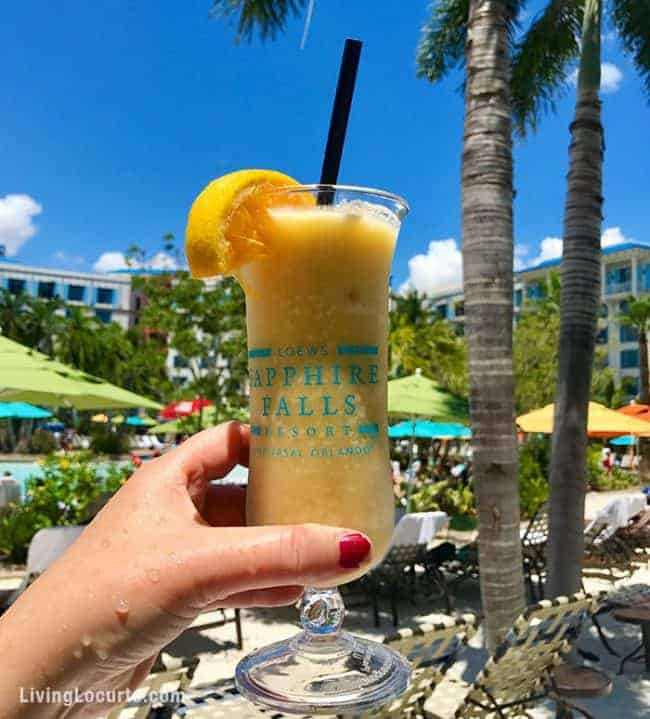 Lowes Sapphire Falls Resort Drink - 10 Tips for What to do at Universal Orlando