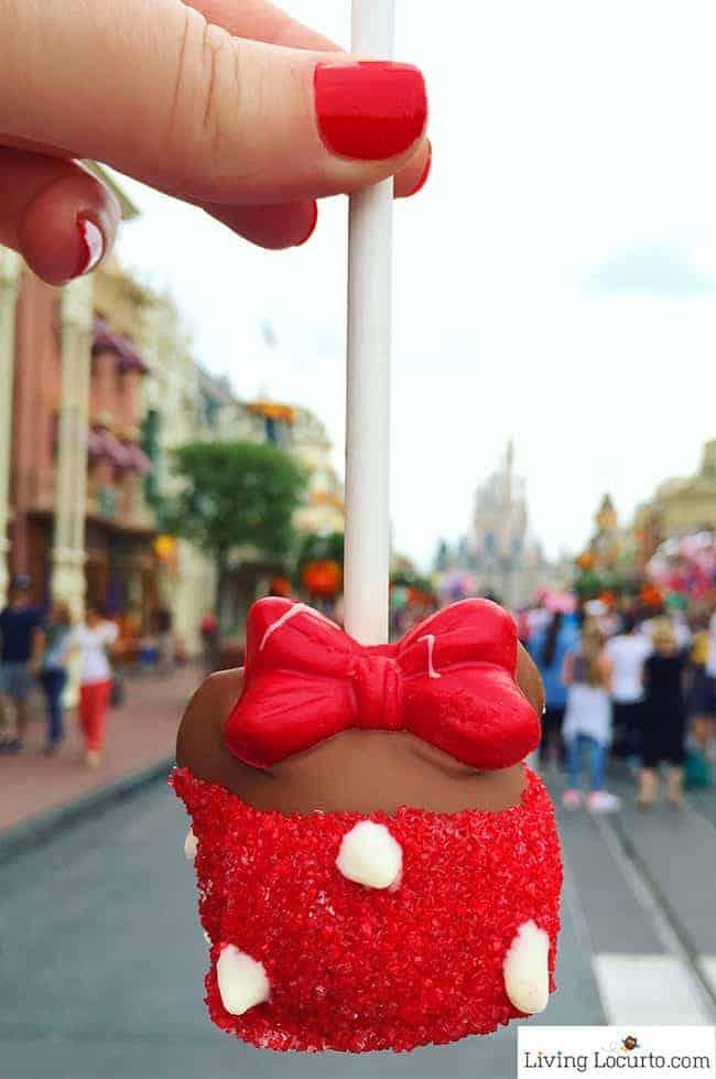 Disney World Magic Kingdom Halloween Minnie Mouse Cake Pop