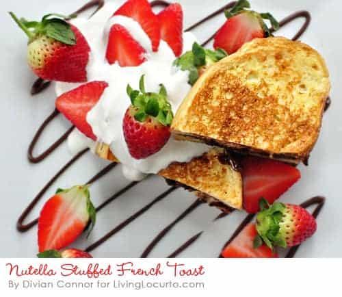 Nutella French Toast - Easy chocolate hazelnut and strawberry breakfast Recipe.