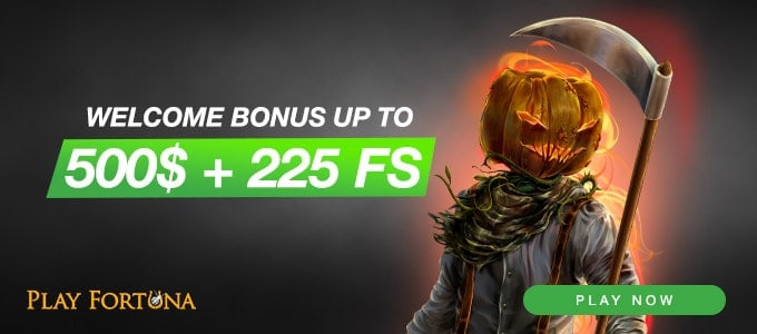 $500 welcome bonus and 225 free spins in deposit offers