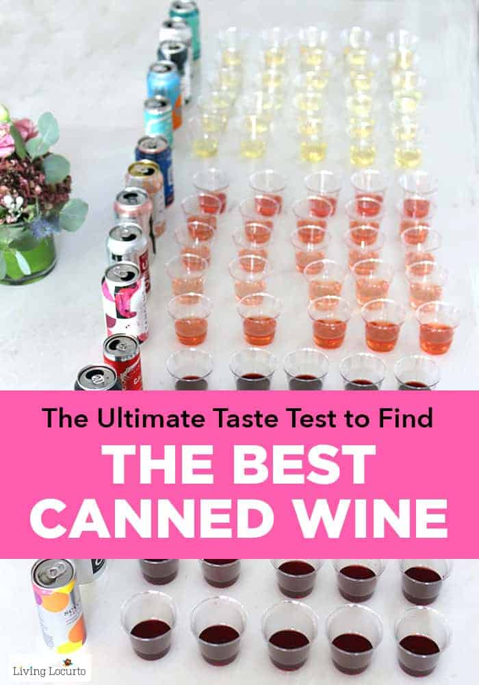 The Best Canned Wine. The ultimate canned wine taste test to find the BEST wine in a can for you to drink this summer. Best Red, White and Rose wine in a can.