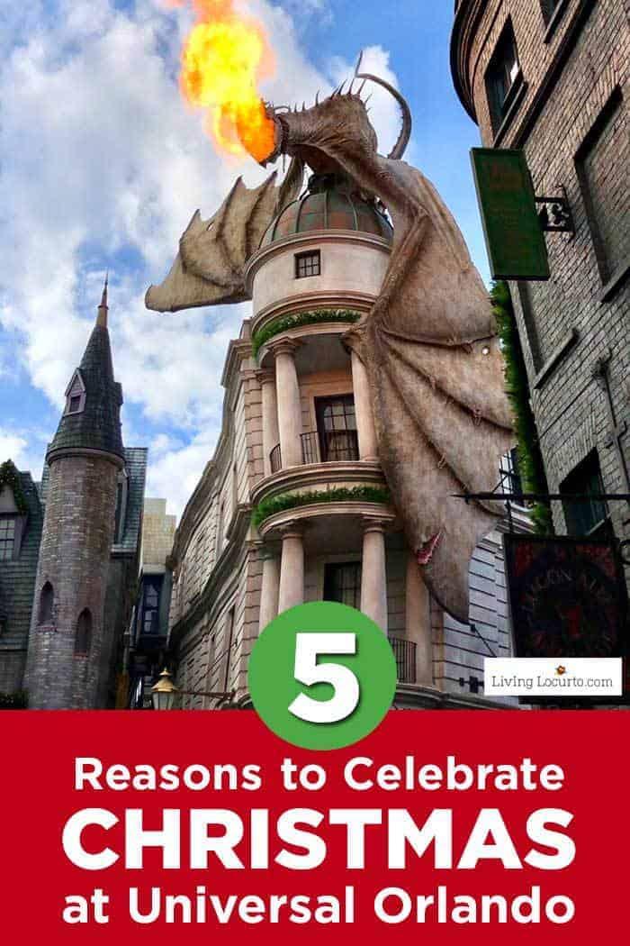 5 Reasons to Celebrate Christmas at Universal Orlando.