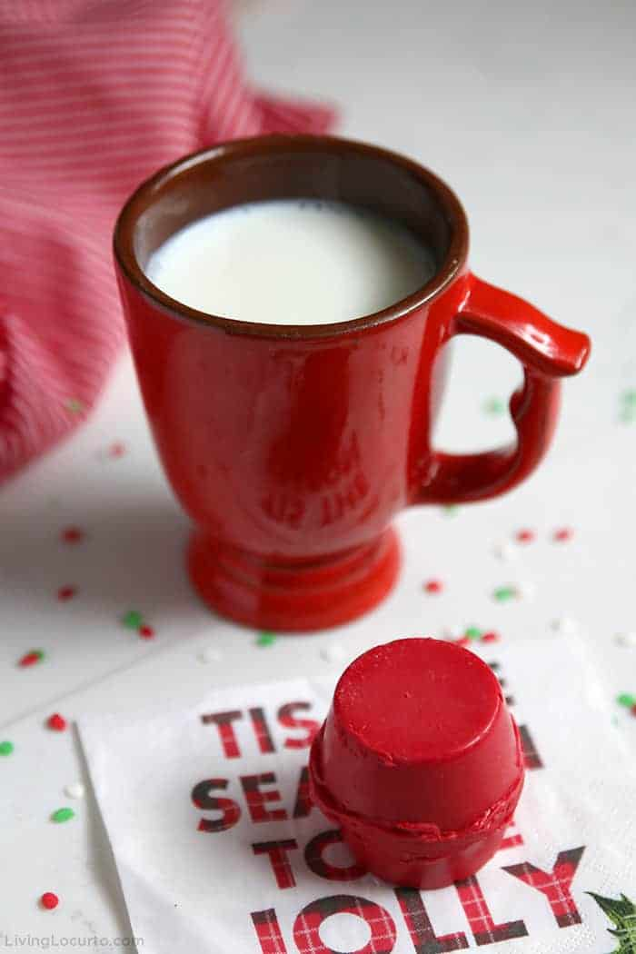 Red Christmas Hot chocolate Cocoa Bombs Recipe