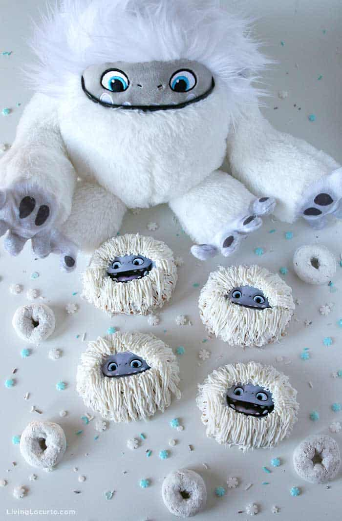 Abominable Yeti Donuts - Cute Movie Themed Dessert