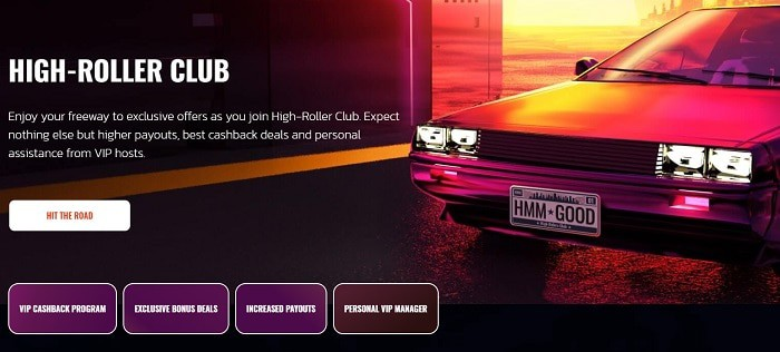 Highway Casino High Roller Bonus