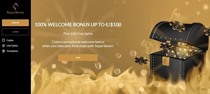 SuperSeven welcome bonus