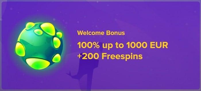 100% bonus + 100 free spins