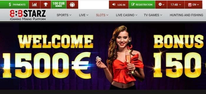 1500 eur welcome bonus + 150 free spins in deposits