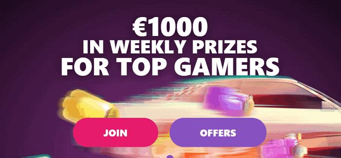 1000 EUR welcome bonus