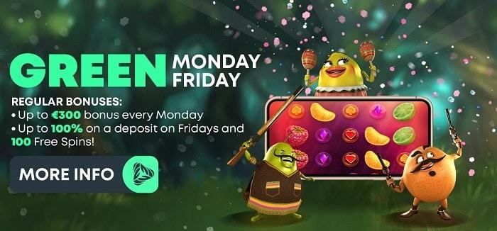 Green Monday Bonus