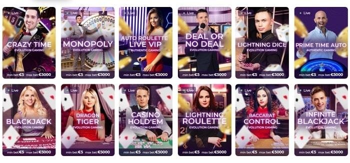 Tsars Casino Live Dealer