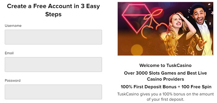 Tusk 25 free spins
