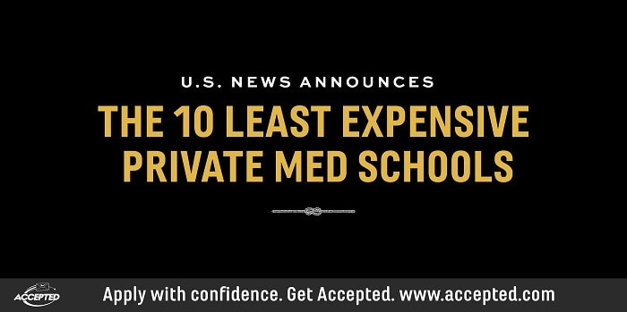 10 Least Expensive Private Med Schools