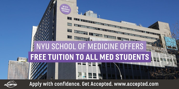 NYU School of Medicine Offers Free Tuition to All Med Students