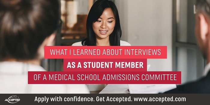 medical school interview advice from a student adcom member. Get more interview advice at our webinar! Click here to register.