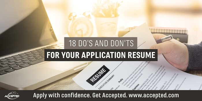 18 Dos and Donts For Your Application Resume