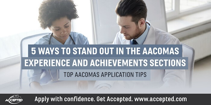 Stand Out in the AACOMAS Experience and Achievements Sections