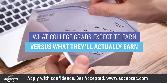 What college grads expect to earns versus what they'll actually earn