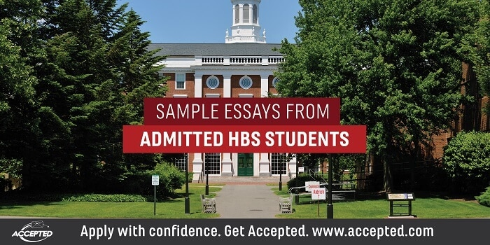 Sample essays from admitted HBS students