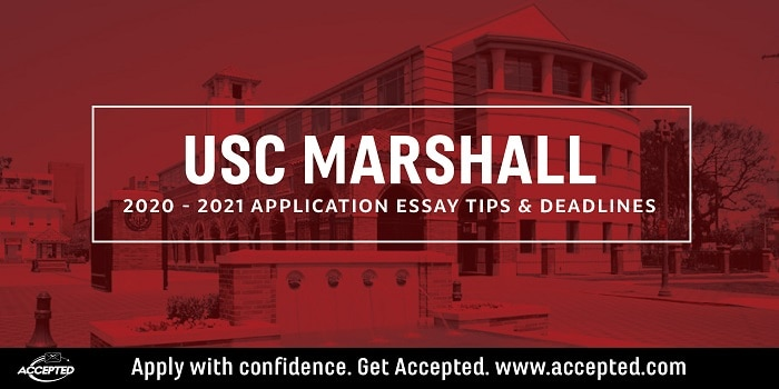 USC Marshall MBA essay tips and deadlines