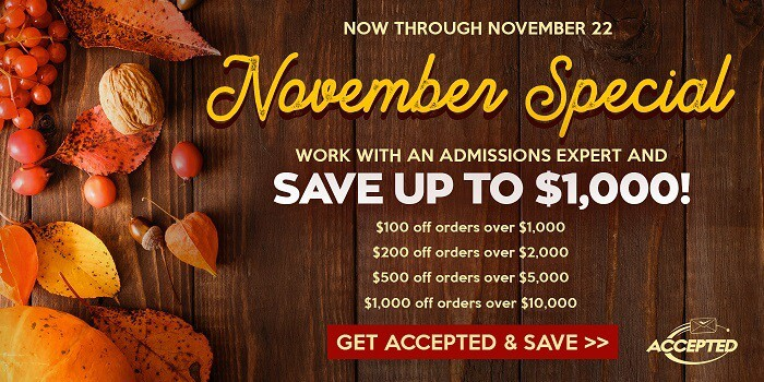 Save big with our November sale!