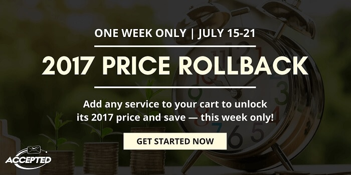 We're Rolling Back Prices for One Week Only!