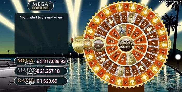Mega Fortune Jackpot Bonus Wheel