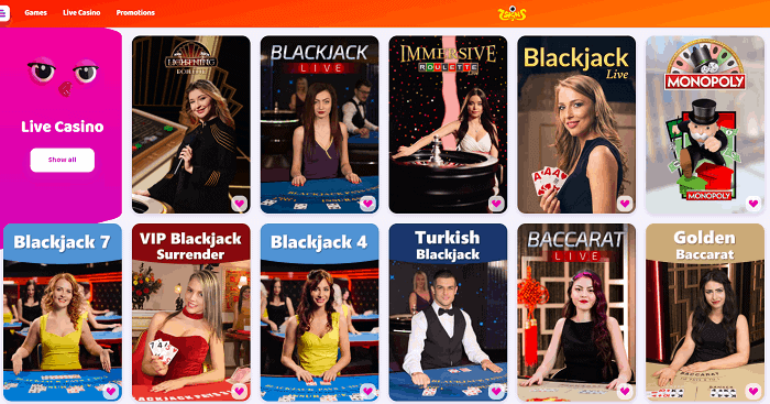 Enjoy Live Table Games 24/7!