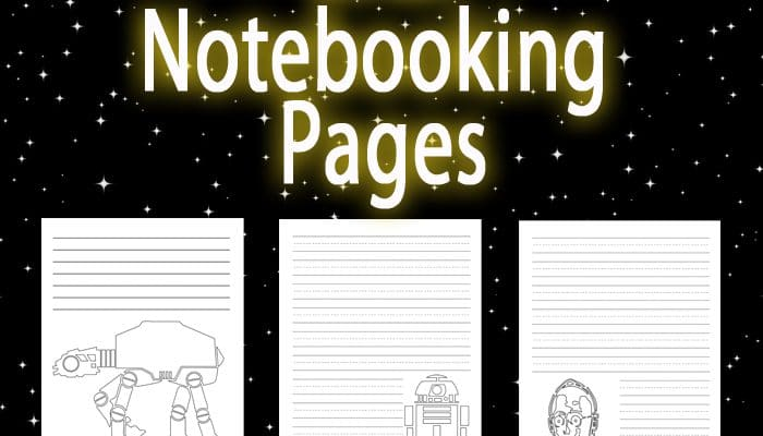 Free Printable Star Wars Notebooking Pages set from Homeschool Encouragement. Star Wars Writing Paper