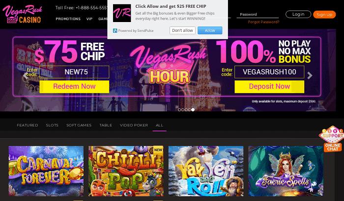 Exclusive Bonus to VegasRush