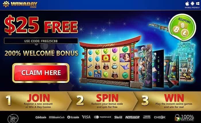 $25 free bonus