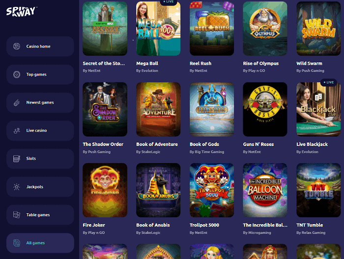 Spin Away Casino Review Page