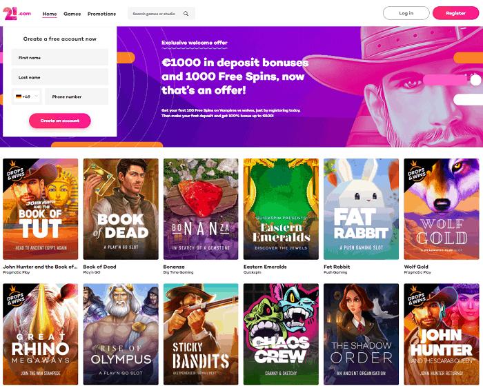 21.com Casino Full Review (Website)