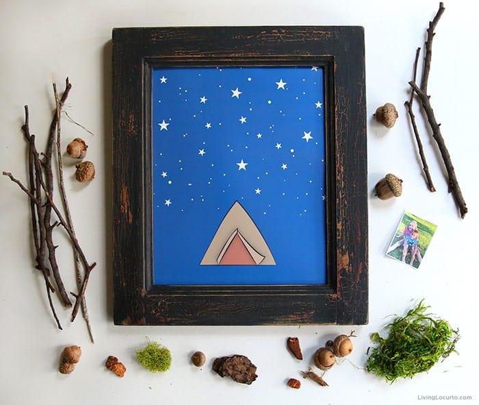 Nature Crafts with Sticks Kids Art Craft Free Printable