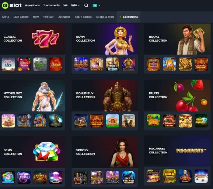 GSlot Casino 20 free spins