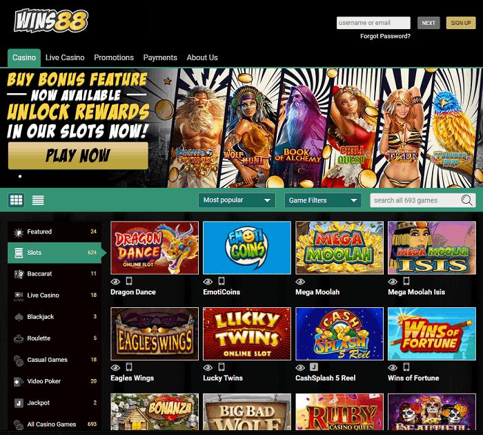 Wins 88 Casino Review