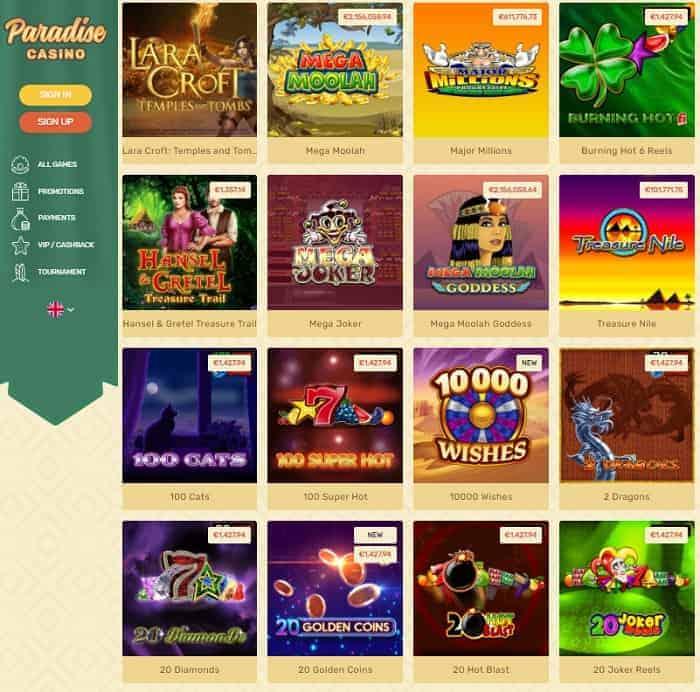 Paradise Free Spins Bonus