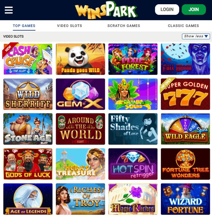 Visit Wins Park Casino