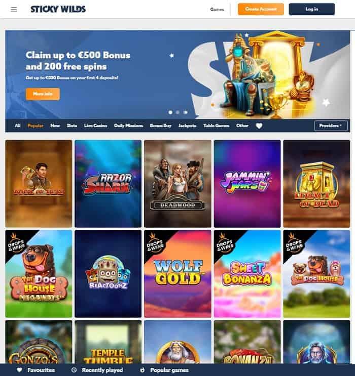 Sticky Wilds Casino Exclusive Bonus