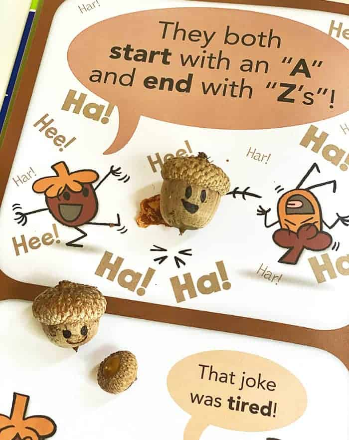 Nature Craft For Kids Inspired by Mo Willems Acorn Jokes