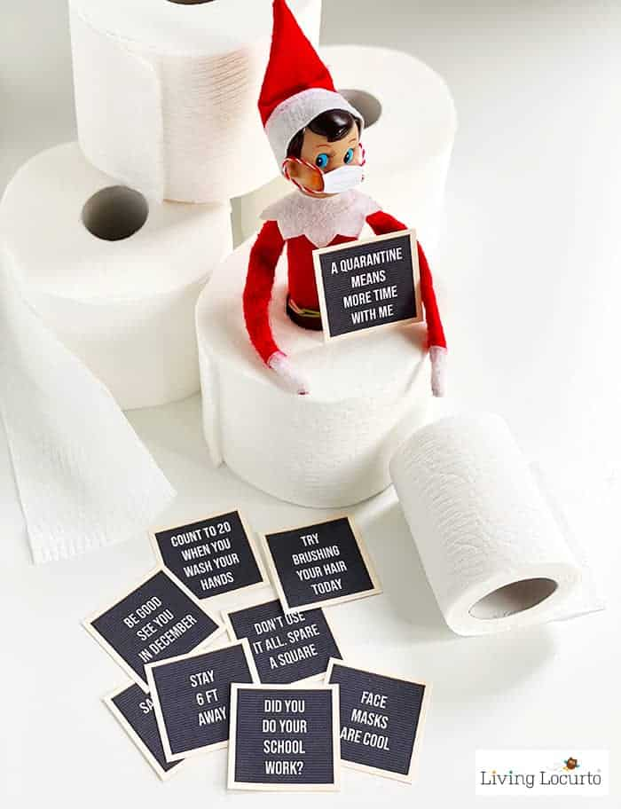 9 Hilarious Stuck at Home Elf Letter Board Printables