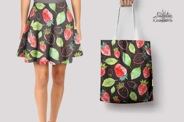 Watercolor Strawberry Clipart 5